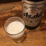 立飲み たきおか - アサヒスーパードライ(´∀`)