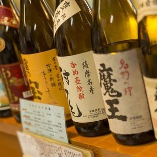 地酒を含め、豊富な冷酒や焼酎、カクテル