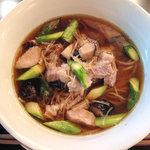 CHABUYA MORIZUMI★CUISINE - 季節のらぁ麺(アスパラと貝柱の具たくさん)