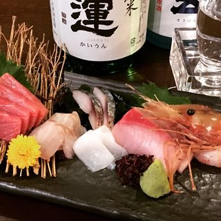築地や日本全国から仕入れる旬の鮮魚