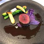 ソーサリート - 兵庫県ささやま産鹿ロース肉のロティ チョコレートソース