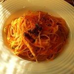 インコントロ - 鶏肉とキャベツのトマトクリームスパゲティー