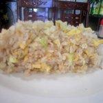 8028511 - 野菜玉子にんにく味チャーハン大盛り・断面