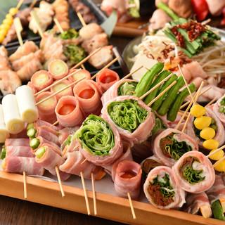 新鮮なお野菜をお肉で巻いた野菜巻き