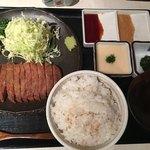 浅草 牛かつ - 牛かつ130g麦飯とろろセット(*´ω`*)明太子