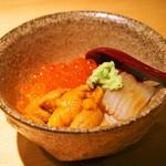 鮨処一心 はなれ - ミニ丼(雲丹、いくら、烏賊)