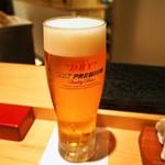 鮨処一心 はなれ - 生ビール(ドライプレミアム)