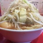 80286991 - ♪ミニらーめん(野菜とカラメ増し)¥650 とろ~り半熟卵¥100