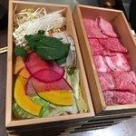 武蔵別邸 巌流島 - しゃぶしゃぶ肉と野菜