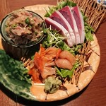 日本酒バル森 - お刺身盛合せ