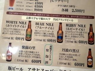 黄桜 治六亭 - 京都大学と早稲田大学の共同開発ビール