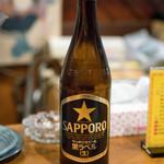 麺・粥 けんけん - 2018.1 ビール中瓶(520円)サッポロ黒ラベル