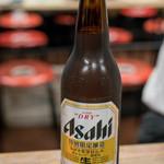 やきとん 元気 - 2018.2 瓶ビール大 アサヒスーパードライ(500円)