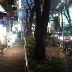 中華ソバ 櫻坂 - 店行く途中の坂