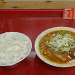 80299497 - とん平食堂 もつ煮+ライス 450円+200円