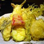 旬懐石 松寿し - 天ぷら御膳の天ぷら盛り合わせ