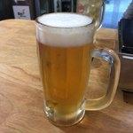 焼肉オリオン - 2018年01月25日  オリオン生ビール 450円