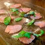鮮魚のカルパッチョ  シャンパン・ドレッシング