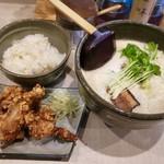 北野 - ランチセットがおすすめ♪唐揚げクリスピー  ご飯は玄米入りです(^^)