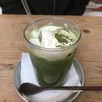 嵯峨野湯 - 抹茶ラテ・アイス
