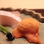 80307026 - 15日熟成カンパチ、赤貝の造り