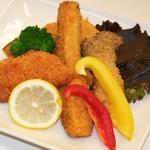 魚と野菜のミックスフライ