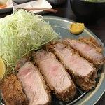 熟豚 - 料理写真:超特上リブロースかつ定食3672円
