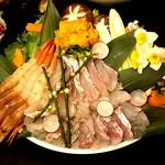 80309570 - (2018.01)真鯛と赤海老の海鮮しゃぶしゃぶ~高級出汁の風味豊かな海鮮鍋~