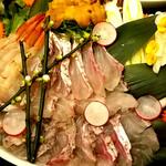 80309571 - (2018.01)真鯛と赤海老の海鮮しゃぶしゃぶ~高級出汁の風味豊かな海鮮鍋~