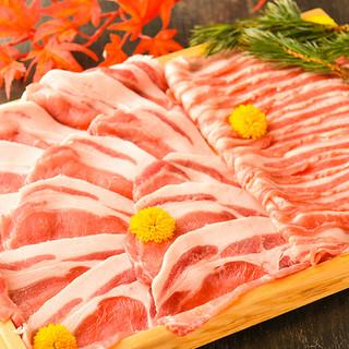 リーズナブルに人気銘柄の『三元豚』しゃぶしゃぶを堪能♪