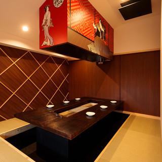 【個室】江戸の華やぎに溢れ活気に満ちた個室完備
