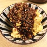 和洋酒菜 ひで - ポテサラ蕎麦の実のせ~