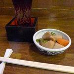 七福 - 〆張鶴と突き出し