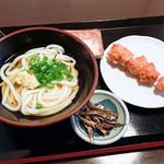 讃州製麺 - ぶっかけ冷と、唐揚げと、いりこ煮