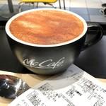 マクドナルド - ドリンク写真:「MacCafe カプチーノ」(Sサイズ250円)。