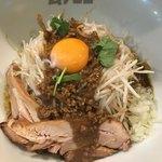 まぜまぜ ムタヒロ - カレーまぜ麺(*´ω`*)/ 野菜多め 麺大 freeデッス