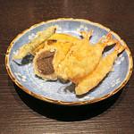 三合菴 - 天ぷら盛り合わせ