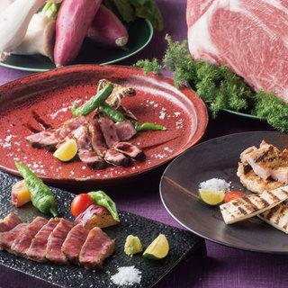 旬の食材を使用した人気の宴会コースは全6種から選べます!!