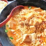 長秀龍 - 料理写真:マーボ担々麺(大盛)+ミニチャーハン