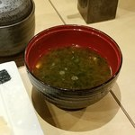 赤坂 すし 秀 - お味噌汁