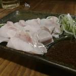 もつ焼き酒場 豚坊 - ガツサシ。美味しいねえ。