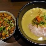 らーめん みふく - 鶏白湯ラーメン&チャーシュー飯