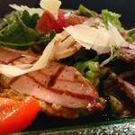 ラザーニャ・ラザーニャ - 鴨肉とオレンジ バルサミコのサラダ