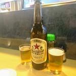 80339527 - 瓶ビールで乾杯です~\(^^)/