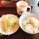 龍球ドラゴン - ライス、スープ、サラダは食べホ