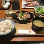 80341380 - トンテキ定食 麦飯