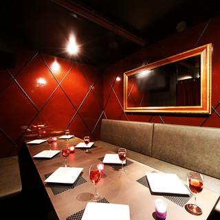 【完全個室完備】プライベートなひと時にピッタリな個室あります