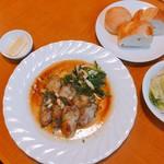 厨 Sawa - カキのムニエル 1500円&サラダ、パン