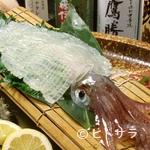 中洲鷹勝 - 鮮度がよく透き通るような『イカの活き造り』