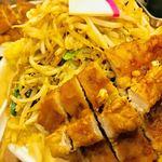 極濃湯麺 フタツメ - 排骨タンメンの麺、野菜マシ【料理】